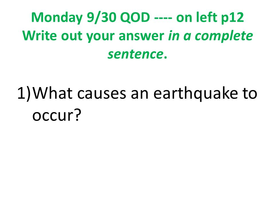 chapter 12 earthquakes study guide Chapter 9 earthquakes earth is not a solid ball rather, as you have learned, it has different layers and earth's surface is so interesting because.