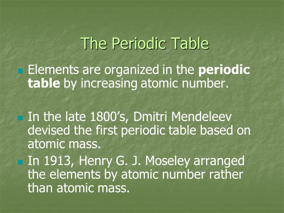 Ch 16 properties of atoms the periodic table structure of the 9 the periodic urtaz Images