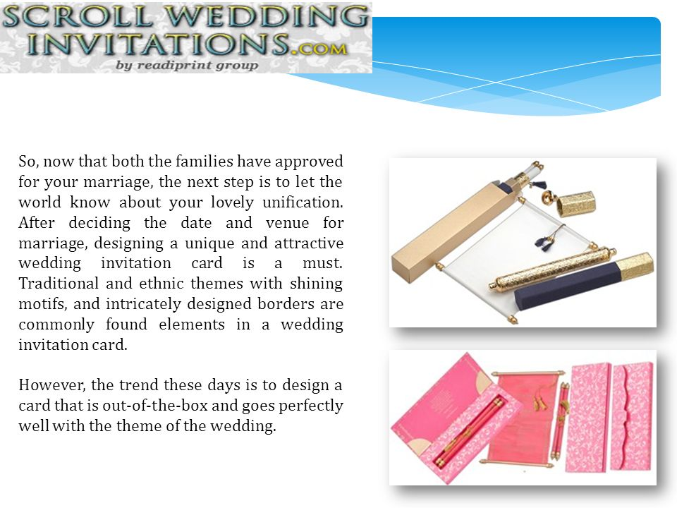5 Interesting Ideas For Wedding Invitation Card Designs Ppt Download