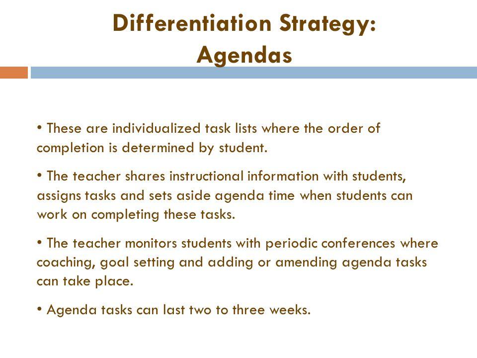 Differentiation Nine Strategies Brenda Wilson Gifted Coordinator