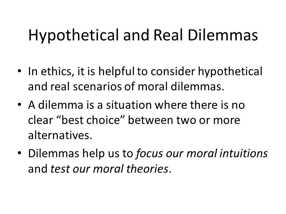 best moral dilemmas