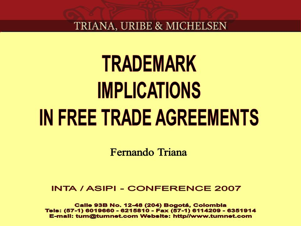 Andean Free Trade Agreement Colombia Ecuador Peru United