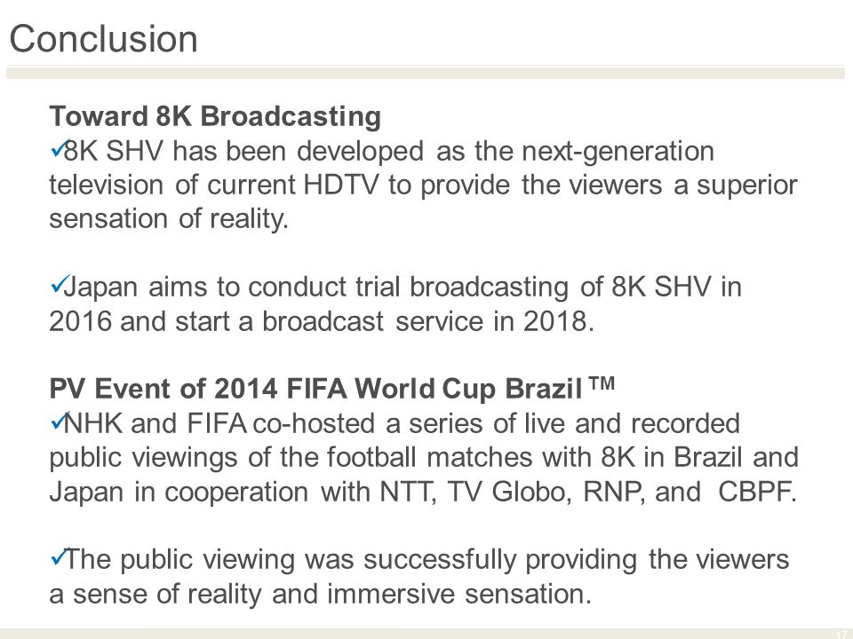 8K Live Television Coverage of Global Sports Events in Brazil