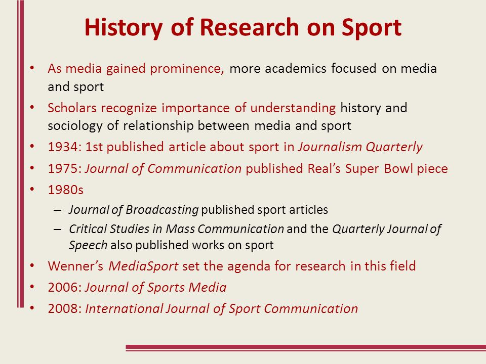 the relationship between media and sports Start studying explain the relationship between sport, sponsorship and the media ('golden triangle') learn vocabulary, terms, and more with flashcards, games, and other study tools.