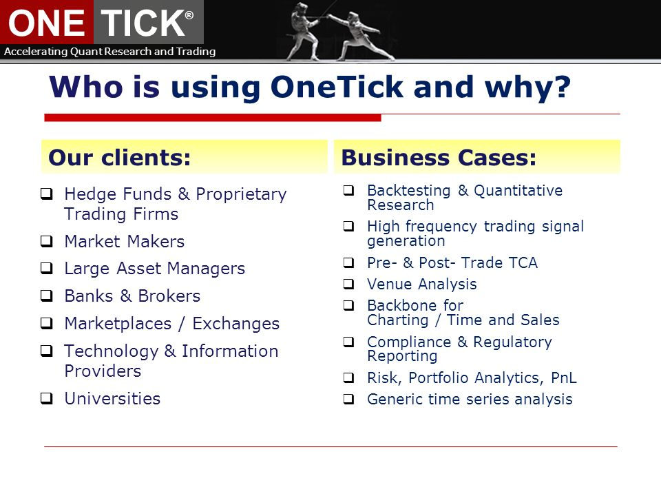 Onetick Accelerating Quant Research And Trading Principal