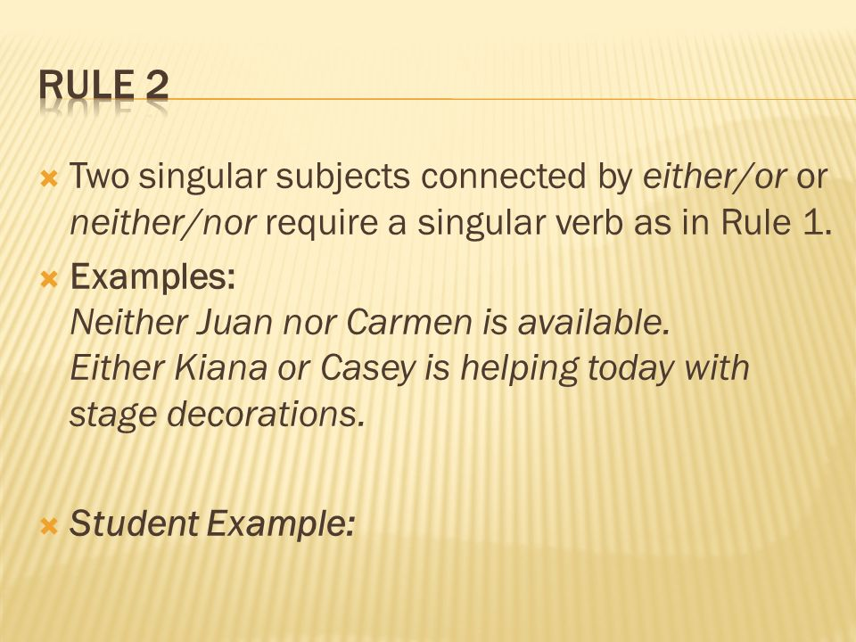 Subject Verb Agreement Basic Rule The Basic Rule States That A