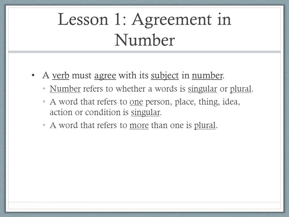Chapter 9 Subject Verb Agreement 8 Th Grade English Ppt Download