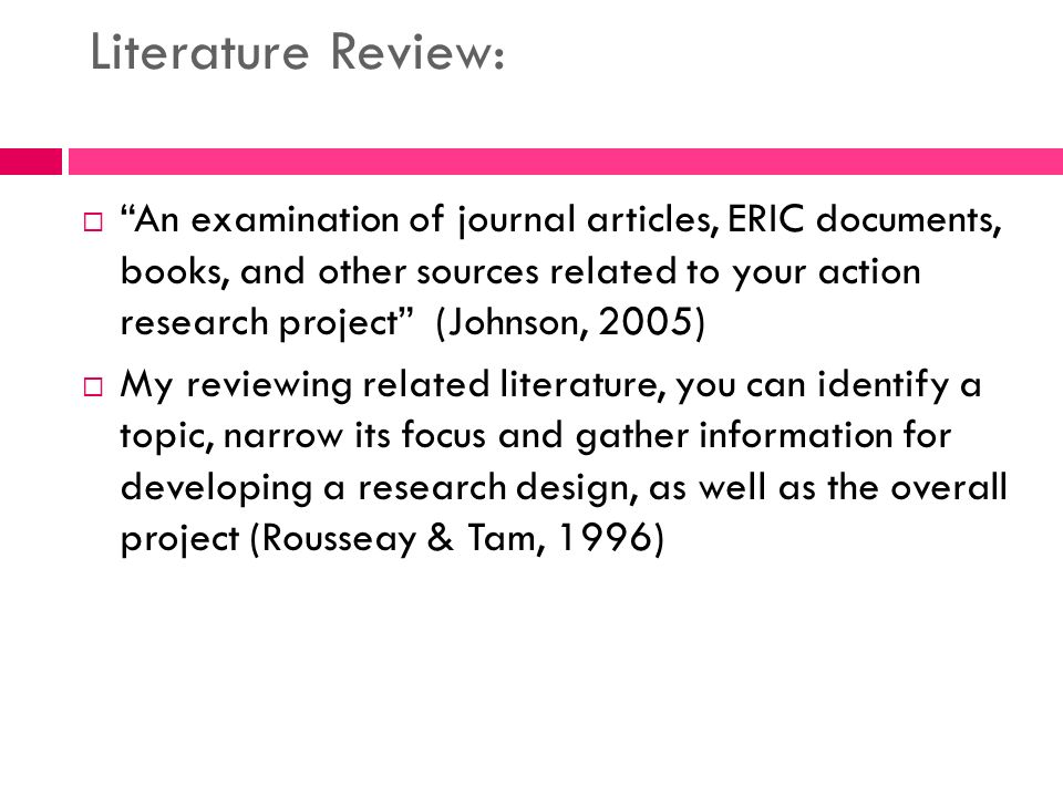 action research literature review pdf