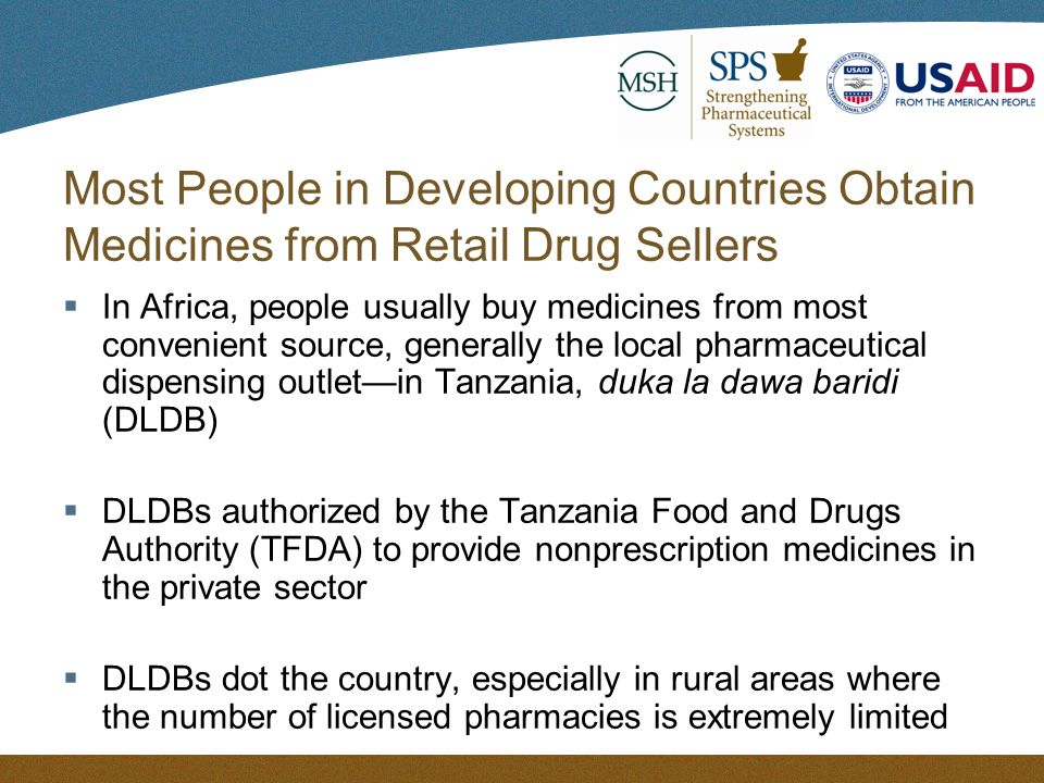 Building Capacity for Pharmaceutical Services Where