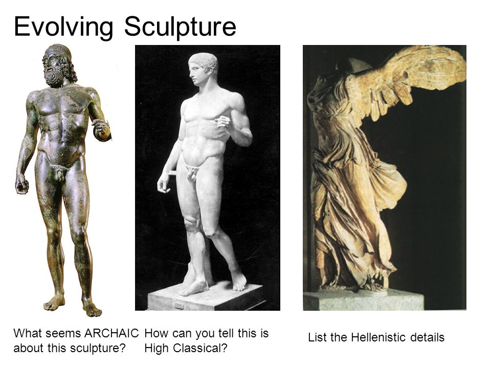 a description of the archaic and hellenistic art The hellenistic period of greek art lasted from  being in its precision of detail a precursor of later greek art the archaic period followed  hellenistic art.