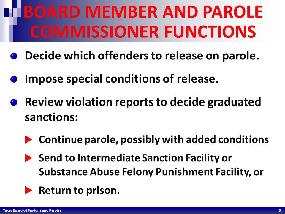 TEXAS BOARD OF PARDONS AND PAROLES  Texas Board of Pardons