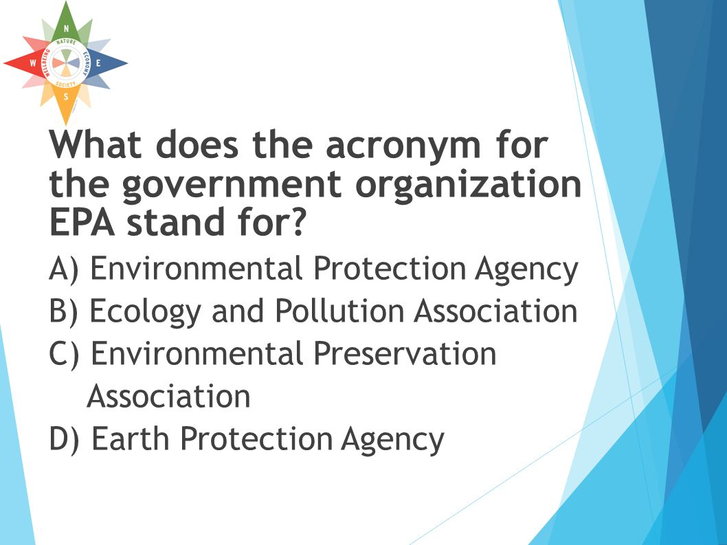 10 What Does The Acronym For Government Organization Epa Stand