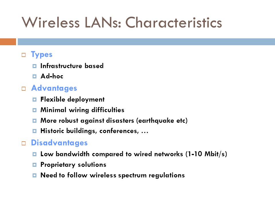 UNIT 5 Wireless LAN  Contents  Introduction  Benefits of WLANs