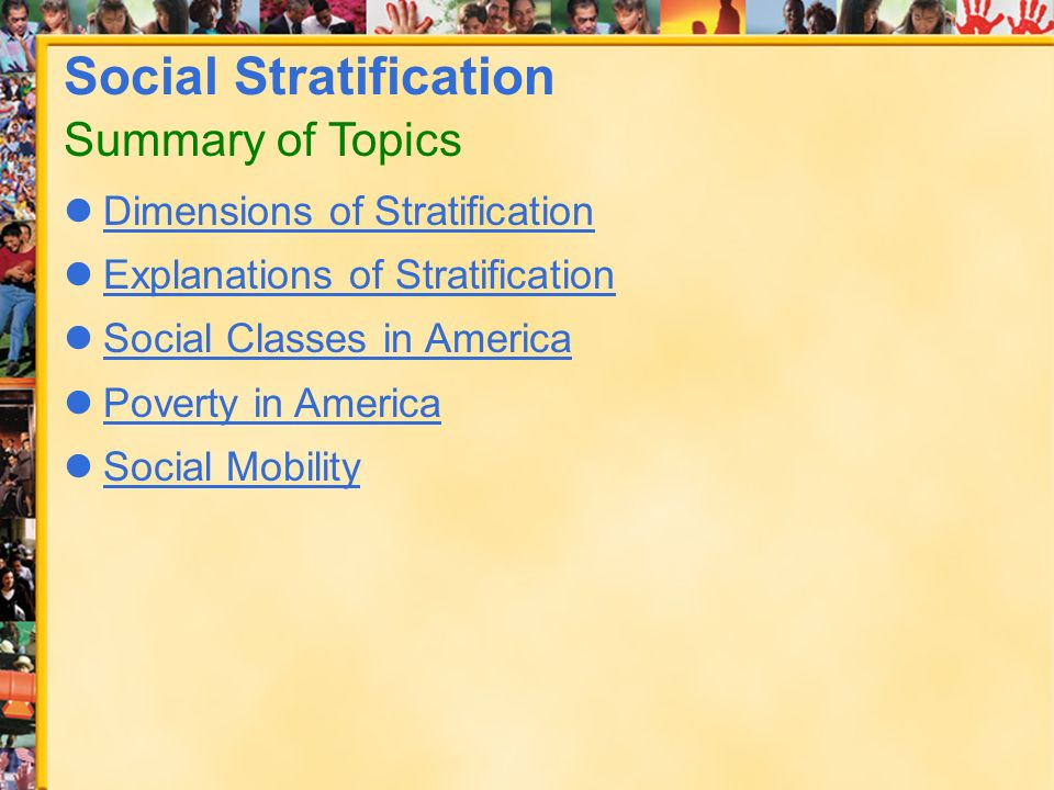 social stratification topics