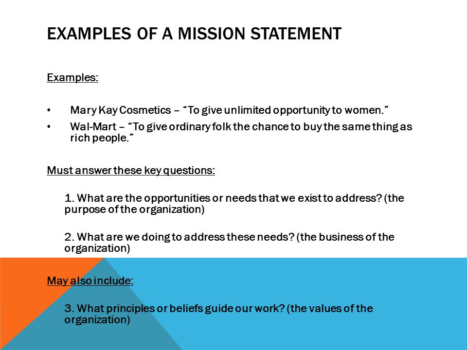 mission statement examples for business