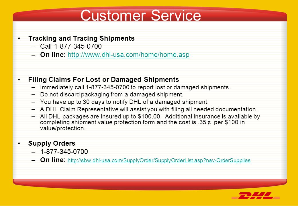 DHL User Guide Florida State Contract No ppt download