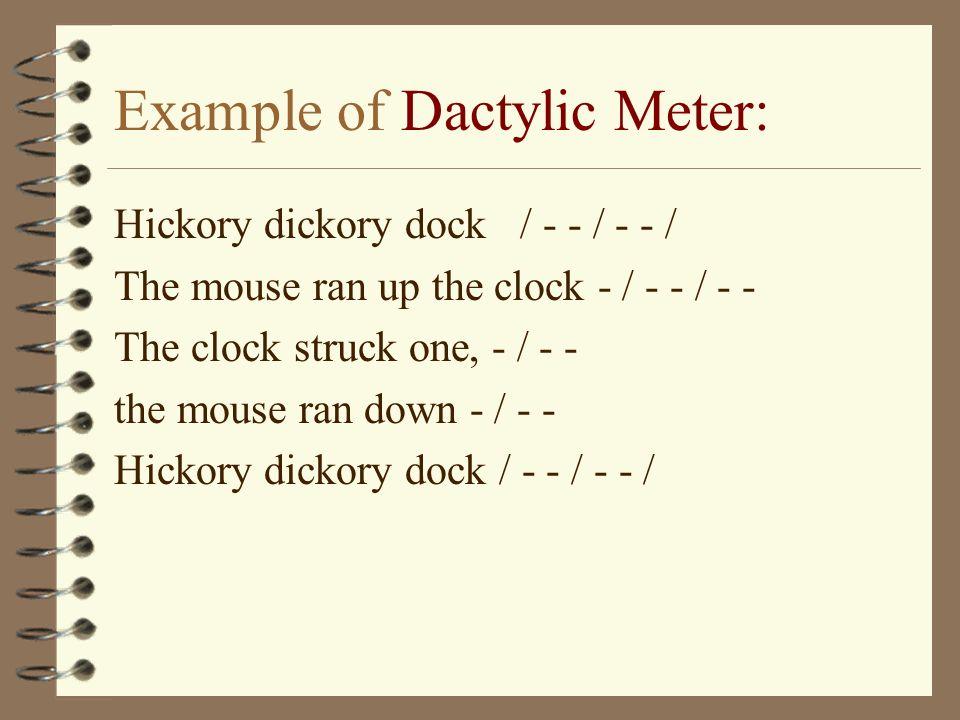 Meter in poetry.