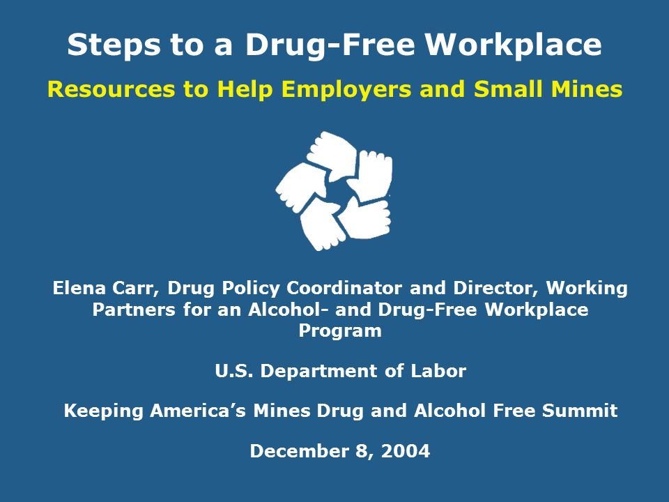 drug and alcohol free workplace