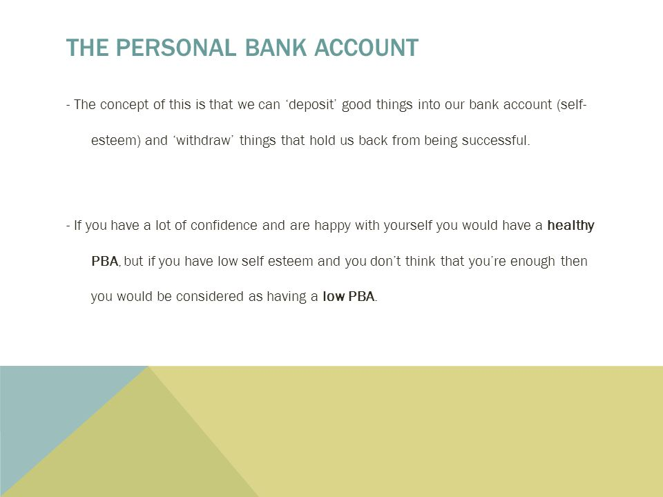 The 7 Habits Of Highly Effective Teens Personal Bank Accounts Ppt