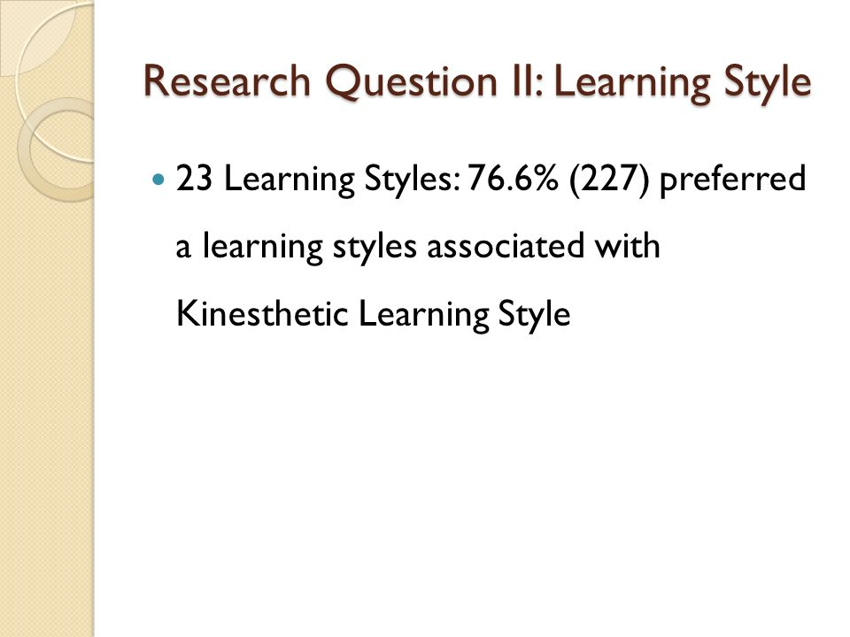 kinesthetic learning research