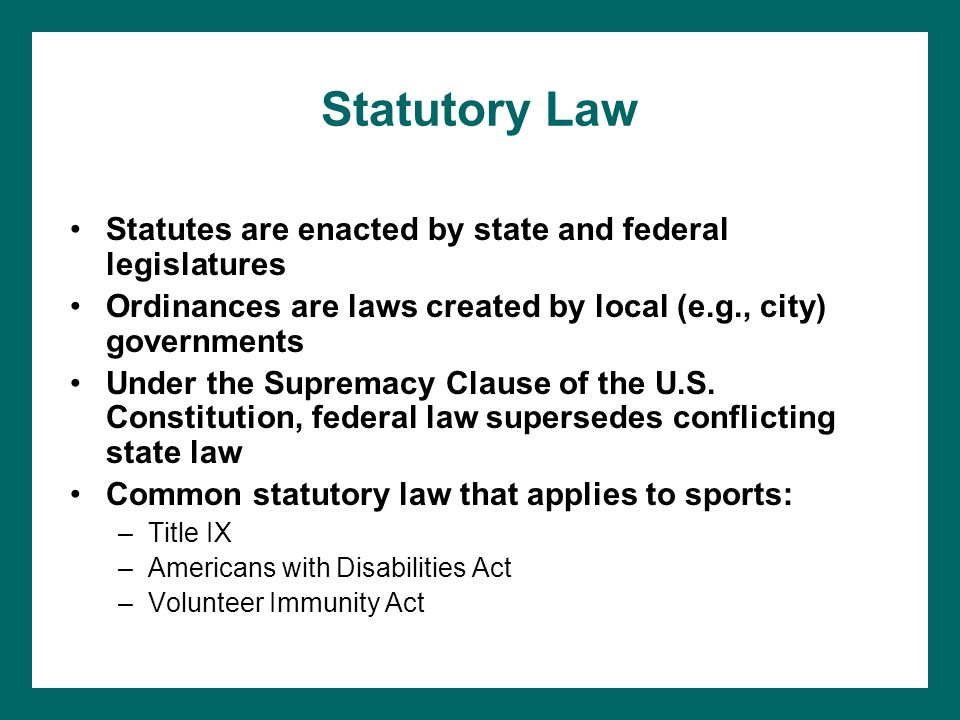 laws of us