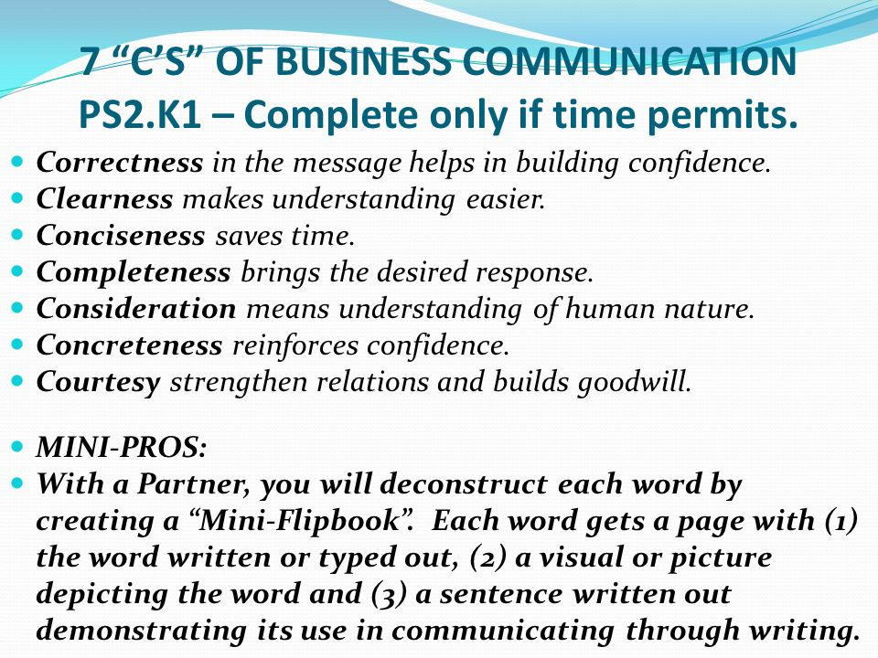7 cs of business communication
