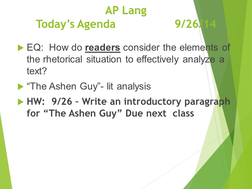 """Good Afternoon!  Please take out """"The Ashen Guy"""" from last"""