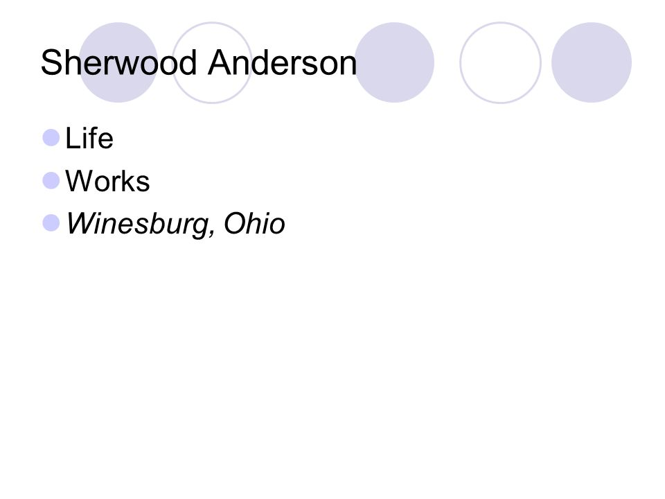 the egg sherwood anderson symbolism