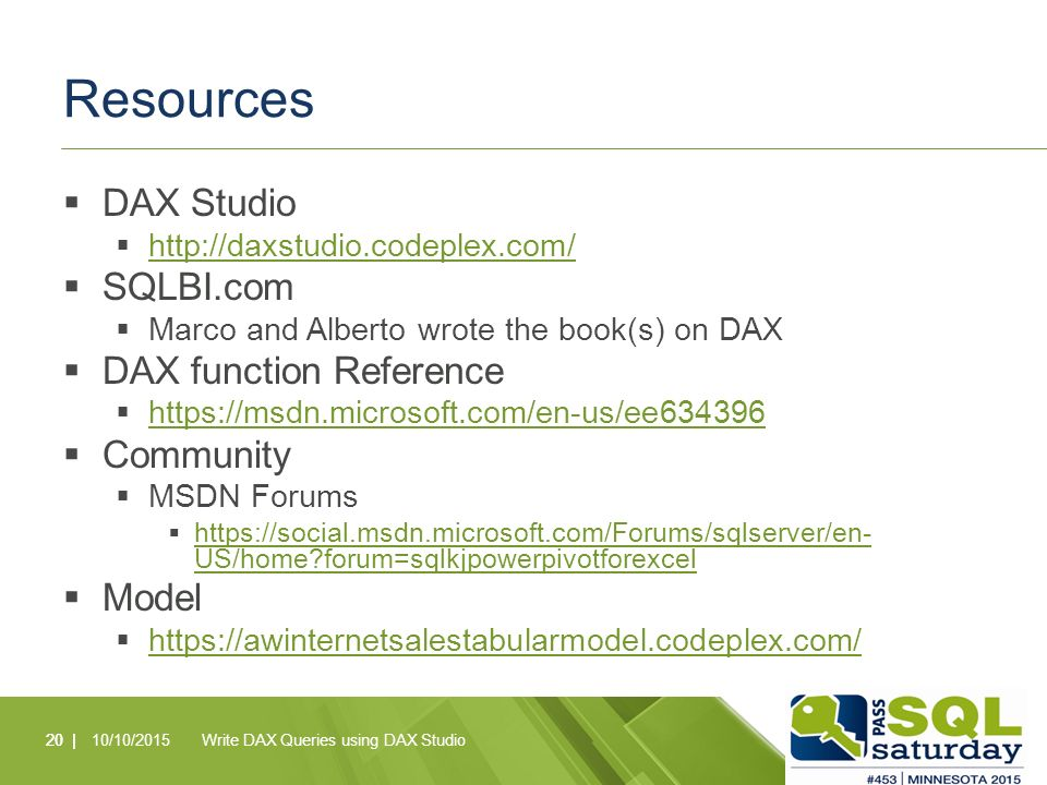 Write DAX Queries using DAX Studio Alex Barbeau - ppt download