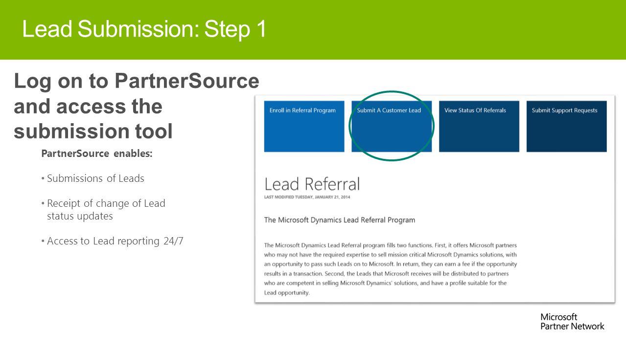 Dynamics Lead Referral Program Advanced Partner Deck  - ppt