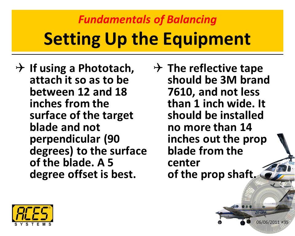 Dynamic Propeller Balancing 06/06/2011 #1  Goals for This Seminar