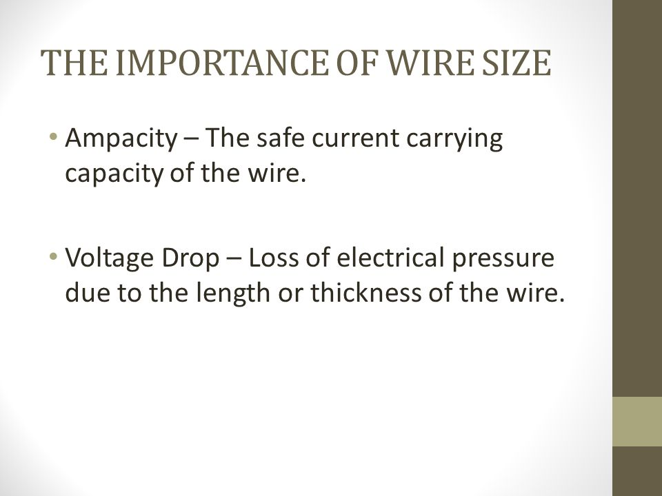 House wiring final review the atom atoms are the basic building the importance of wire size ampacity the safe current carrying capacity of the wire keyboard keysfo Choice Image