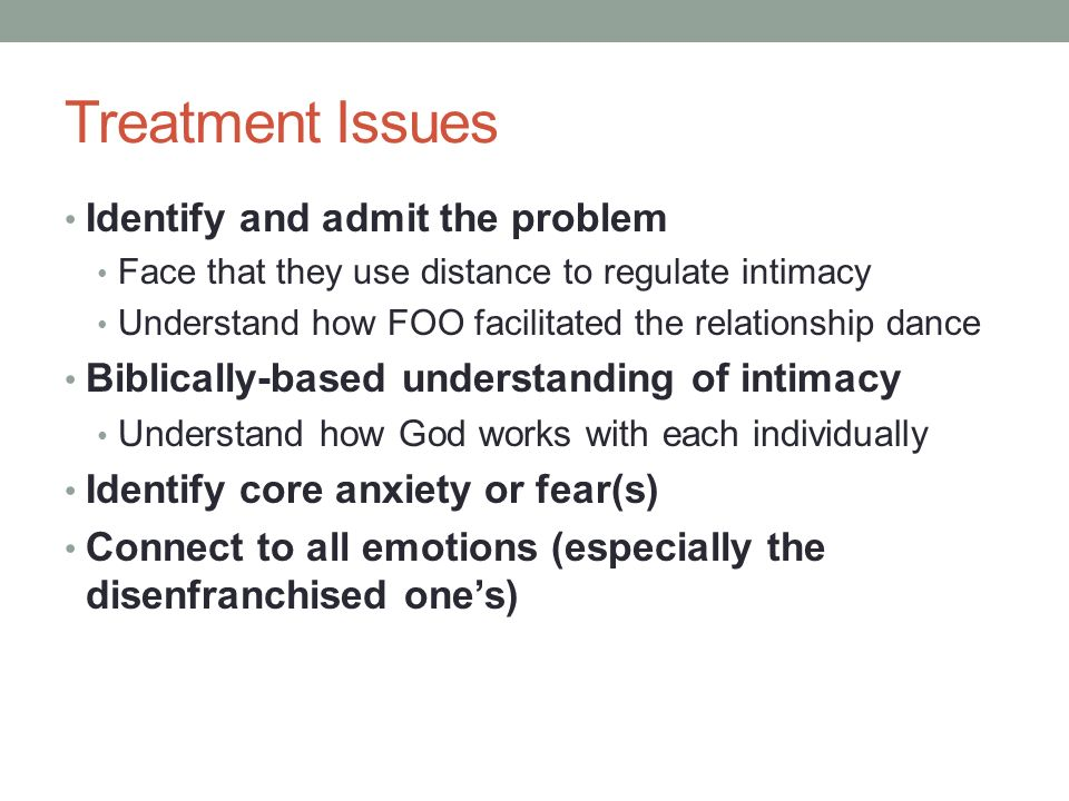 fear of intimacy treatment