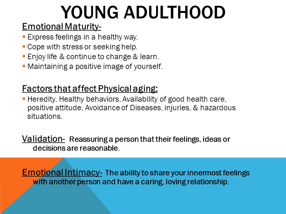 emotional development in young adulthood