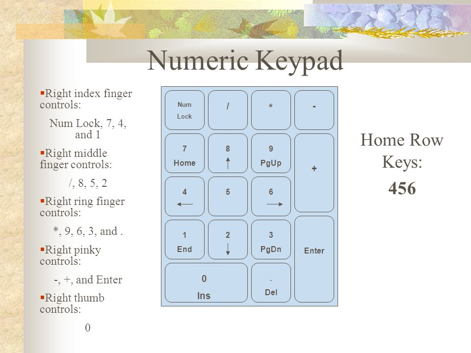 4 00 Use The Touch Method In Operating The Keyboard And