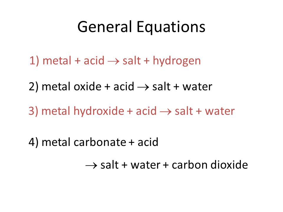 Salts Naming Salts State Symbols And Writing Equations Ppt Download