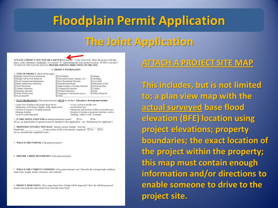 Permitting Basics Workshop The Joint Application the Agencies