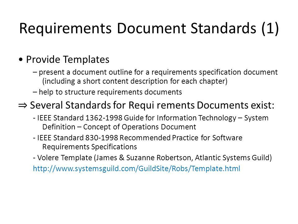 Rekayasa Kebutuhan Perangkat Lunak Requirements Document Standards ...