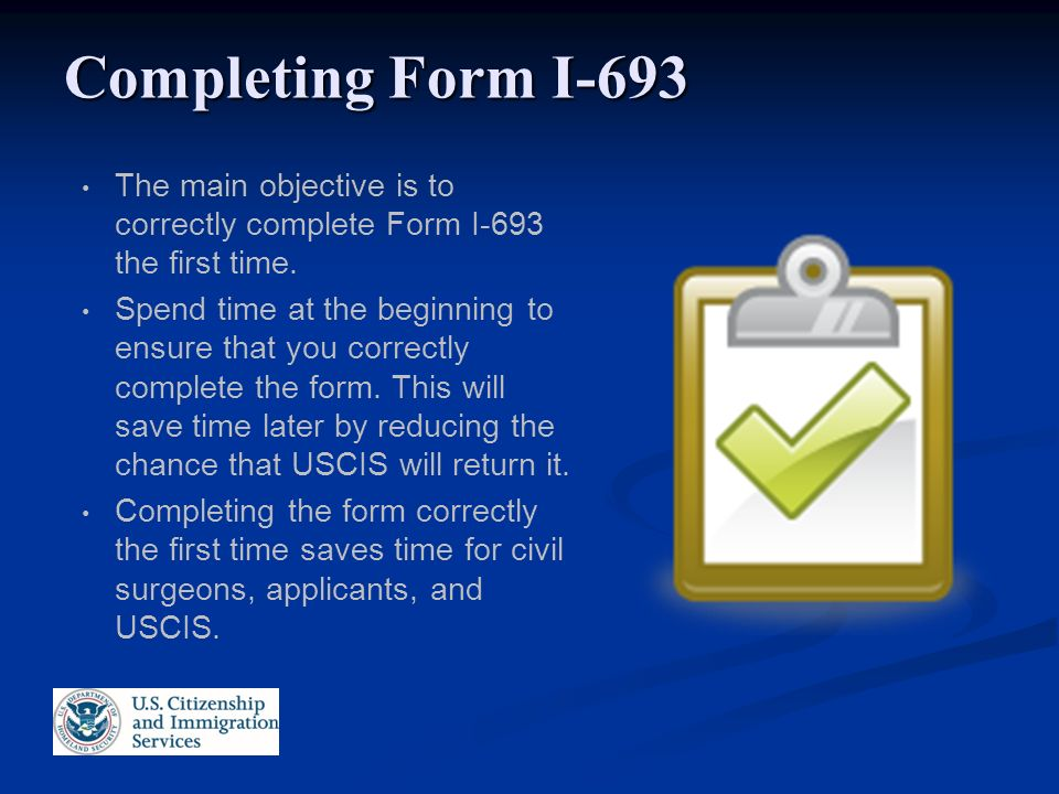 Immigration Medical Exams Form I 693 Uscis Civil Surgeon Seminar