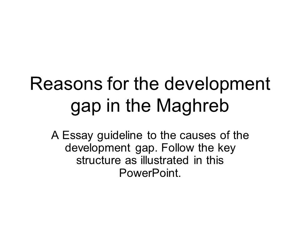 reasons for the development gap