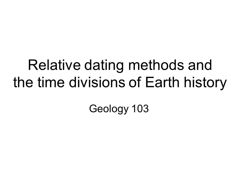 Dating methods in geology