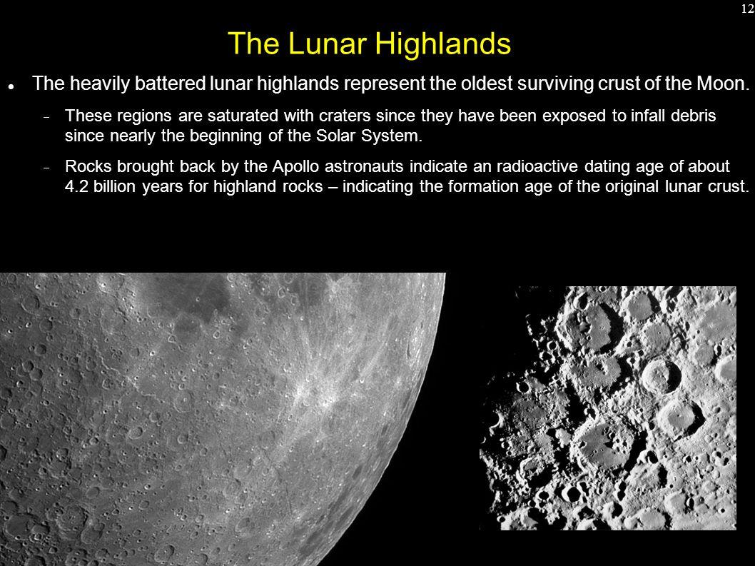 Radiometric dating of moon rocks candy