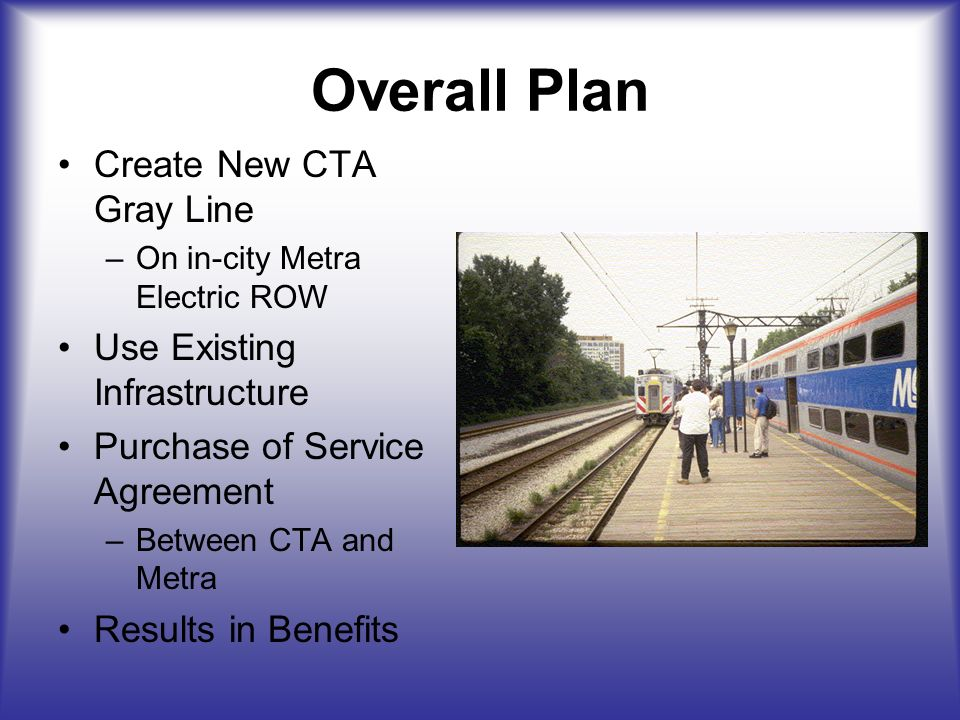 The Cta Gray Line A Benefit For Chicago Overall Plan Create New Cta
