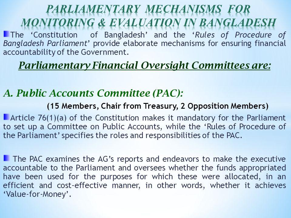 M A  MANNAN MP CHAIRMAN, PUBLIC ACCOUNTS COMMITTEE (PAC