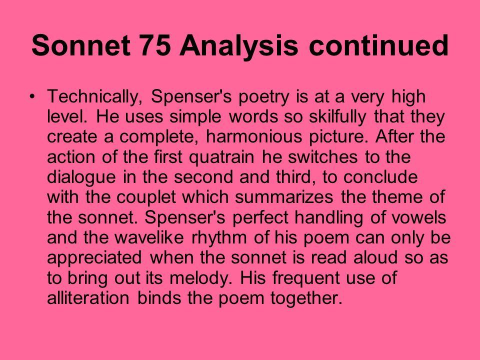 amoretti sonnet 75 analysis