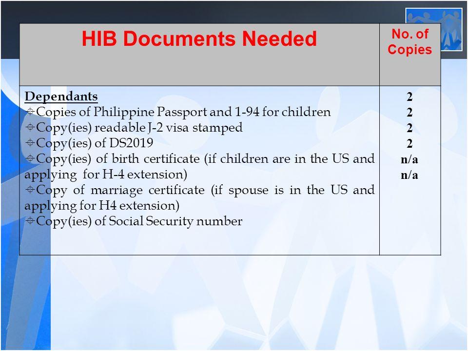 H1B CONVERSION PROCESS J TEACHERS  HIB Documents Needed No