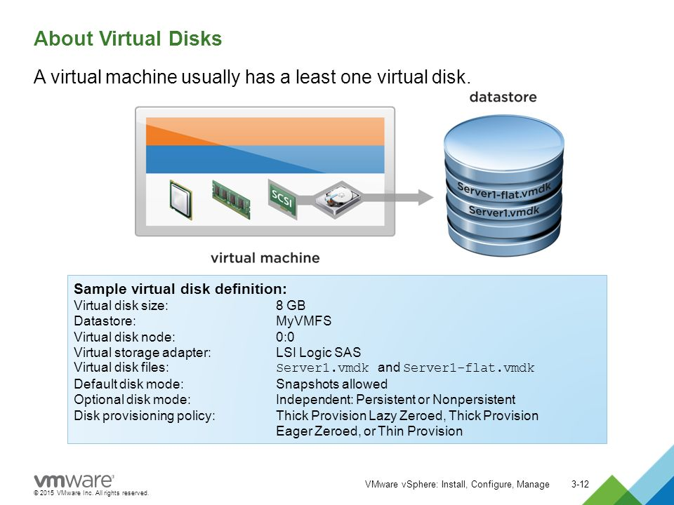 2015 VMware Inc  All rights reserved  Creating Virtual Machines
