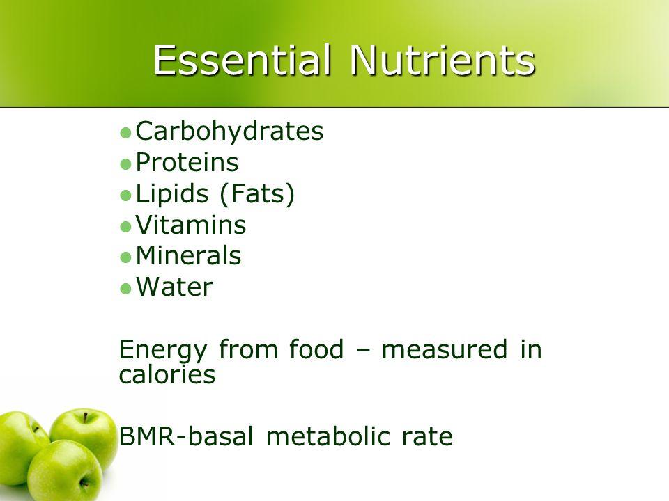 Nutrition Pamela Llana Msn Rn Carbohydrates Proteins Lipids Fats