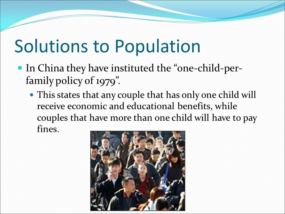 overpopulation population control and public policy Overpopulation solutions  implement a china-like one-child policy globally to help control and reduce overpopulation  the public, particularly in.