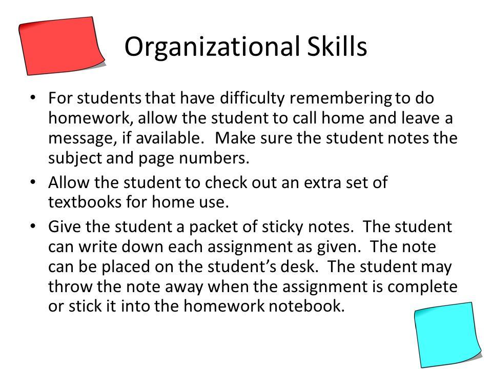 xanax organizational skills for students